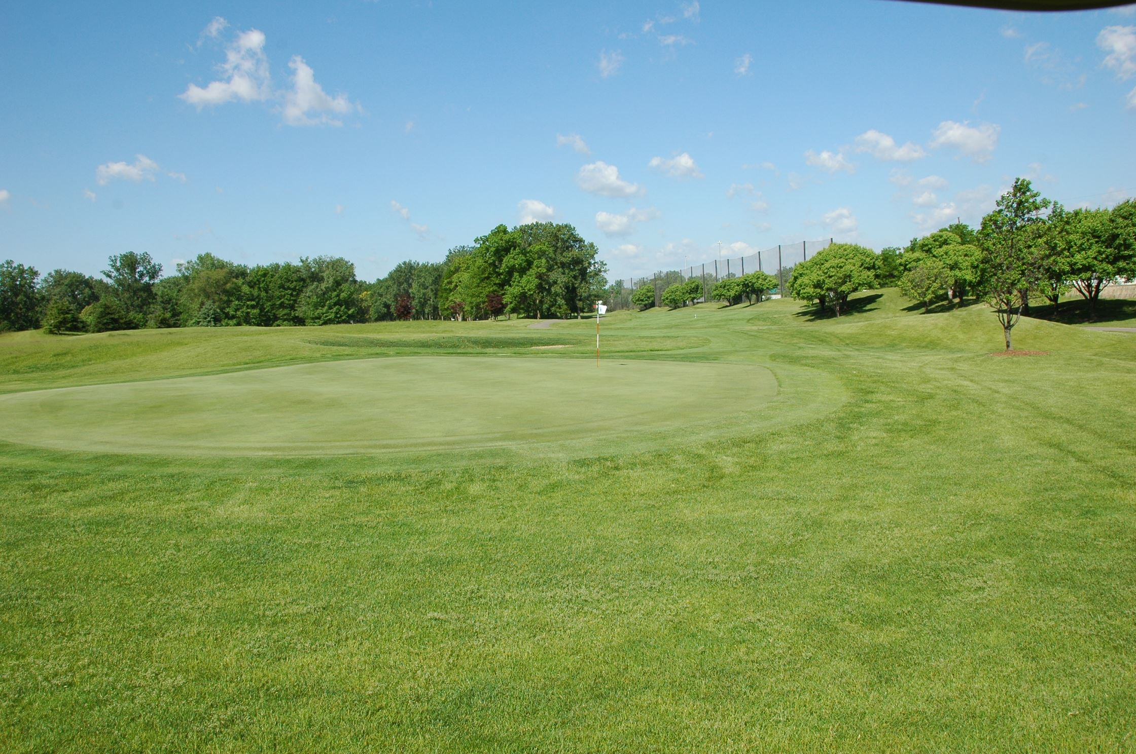 A view of the beautiful scenery of the Taylor Meadows Golf Course.